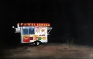"""<p>""""Funnel Cakes"""", Gouache on Paper, 2016, 9 x 12 in.</p>"""