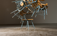 <p><em>Higher Education</em>&nbsp;| used school chairs | 2010</p>