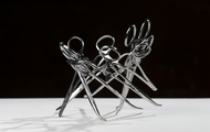 <p><em>I Made It (Series #1) DETAIL</em>&nbsp; &nbsp;used surgical tools and zip ties  &nbsp;h 4&rdquo; w 7&rdquo; d 7&rdquo;   2009  &nbsp;<strong>SOLD</strong></p>