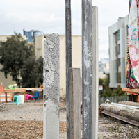 """<p><em>The Stand</em></p> <p>Hayes Valley Art Works, 2016</p> <p>San Franicsco, CA</p> <p>6' to 7' tall, 2"""" to 4"""" wide each</p> <p>&nbsp;</p>"""