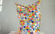 "<p>""The Clown"" Glass Pillow&nbsp; /&nbsp; 2017&nbsp; /&nbsp; perspex, glue&nbsp; /&nbsp; 21 x 20 x 14""</p>"