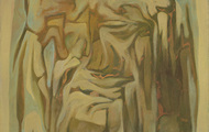 <p><em>Stone Head</em>, 1965, &nbsp;Oil on canvas, 24 X 30 inches.</p>