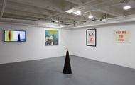 "<p style=""text-align: center;"">Black Mirror installed Charlie James Gallery</p>"