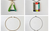 <p>wood and resin chokers are $75</p> <p>triangle is sold</p>