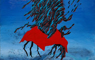 """<p><em>Dead Wizard's Toadie</em><br />14x11"""" acrylic on canvas 2016</p>"""