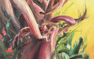 <p><em>Myself As a Bouquet (For You)</em>    45 x 36 inches    oil on canvas</p>