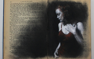 <p>Charcoal and pastel in Charles Dickens novel</p>