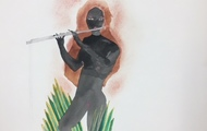 """<p style=""""text-align: center;""""><em>Song for Ione</em>, 2018</p> <p style=""""text-align: center;"""">Watercolor</p>"""