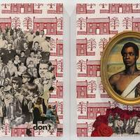 <p>Genevieve Gaignard<br /><em>Red, White & You</em>, 2018<br />Collage on Panel<br />20 x 16 inches each (Diptych)</p>