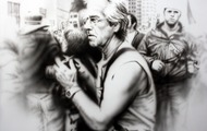"<p>Protest Photographer, 2006&nbsp;(original available upon request. 32 x 48"")</p>"