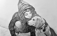<p>KYAN AND THE DOG</p> <p><span>9x12in</span></p>
