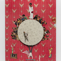 <p>Genevieve Gaignard<br /><em>This American Beauty</em>, 2019<br />Mixed Media on Panel<br />48 x 36 x 2.5 inches</p>