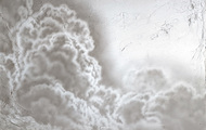"""<p>Clouds #1, 2020, acrylic on canvas, 27 x 36""""</p>"""