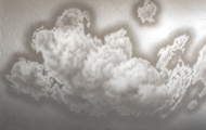 """<p>Clouds #9, 2020, acrylic on canvas, 54 x 72""""</p>"""