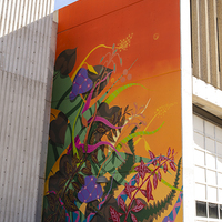 <p>Split Screen, 2018, Spray paint and latex paint&nbsp;32.5 x 59 feet | 9.906 x 18 Meters (Tucson, Arizona) Commissioned by Museum Of Contemporary Art (MOCA)</p>