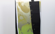 """<p><span><strong>&Iacute;S MIRЯOR - Neon Yellow Fluorite</strong>&nbsp;- 2020, 16""""x18""""x4""""<br /></span><span>2 Layers of Screenprint on paper and plexiglass.</span></p>"""