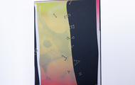 """<p style=""""text-align: center;""""><span><strong>&Iacute;S MIRЯOR - Neon Pink Fluorite</strong>&nbsp;- 2020, 16""""x18""""x4""""<br /></span><span>2 Layers of Screenprint on paper and plexiglass.</span></p>"""